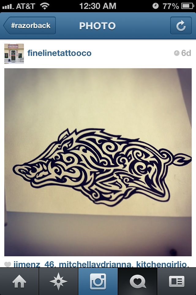 If I ever got a hogs tattoo, this would be it