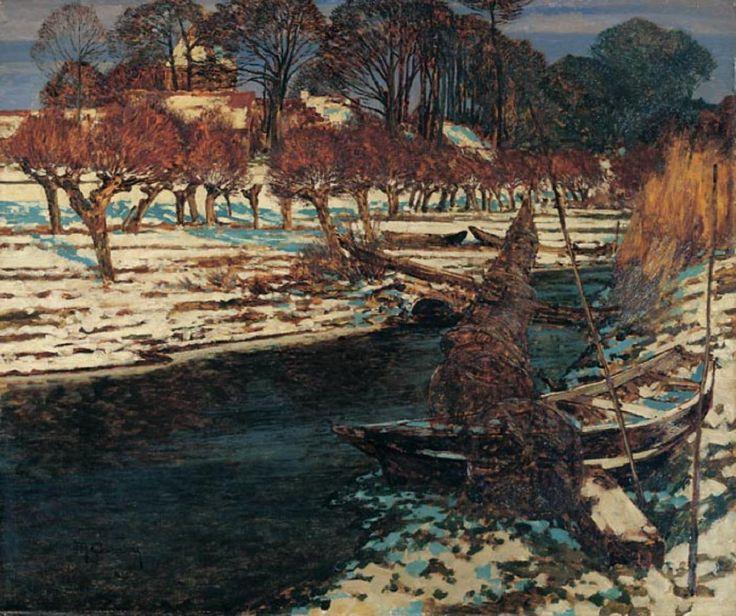 Max Clarenbach, Märztag (Schwarzbachtal mit Blick auf Wittlaer), 1914, Auktion 847 Moderne u. Zeitgenössische Kunst, Lot 620