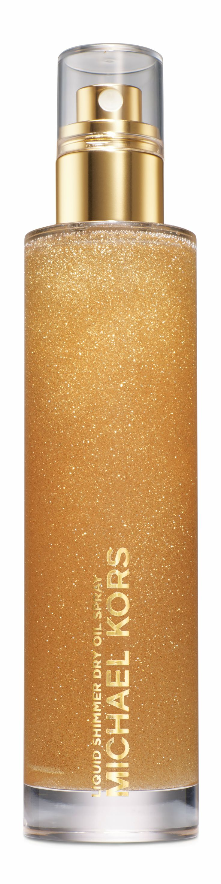 Liquid Shimmer Dry Oil Spray, by Michael Kors. A delicious way to make your skin shine and look beautiful.