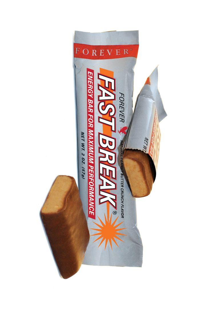 Forever Fast Break Energy Bar, ìè uno snack gustoso e salutare, pratico e veloce è un ottimo bilanciatore nutrizionale in regimi alimentari controllati. Contiene pochi grassi, sodio e soprattutto poche calorie. Contiene, invece, più potassio e fosforo per riuscire a reagire meglio allo stress quotidiano. Basta scartarla ed è pronta per essere gustata! La nostra barretta energetica ha un gusto unico ed è ricca di elementi nutritivi.  Contenuto 57 gr. (art. 23)