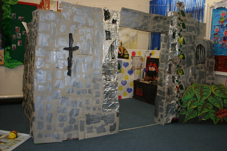Jack and the Beanstalk role-play area classroom display photo - Photo gallery - SparkleBox