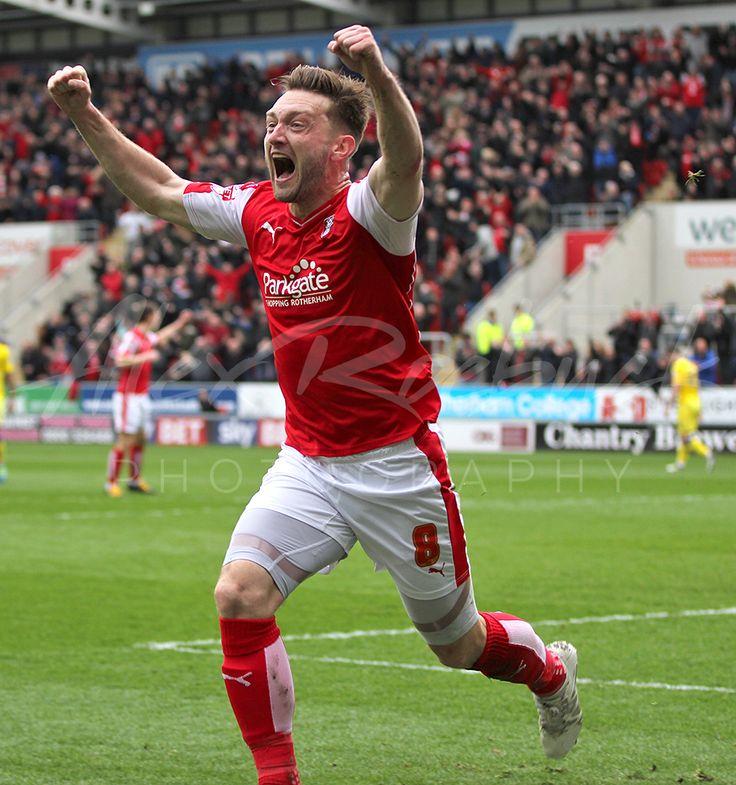 Lee Frecklington Celebrates for ROTHERHAM UNITED against Leeds 1-0