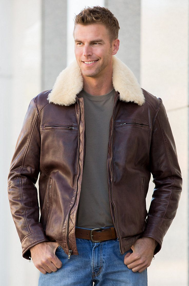 James Lambskin Leather Bomber Jacket With Removable
