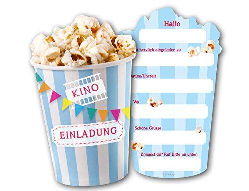 Die Besten 25+ Einladung Kindergeburtstag Basteln Kino Ideen Nur,  Einladungsentwurf