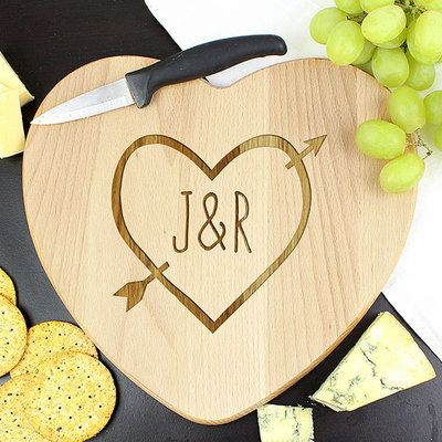 Check this out!! The Kitchen Gift Company have some great deals on Kitchen Gadgets & Gifts Personalised Wooden Heart Chopping Board - Heart & Arrow Design #kitchengiftco