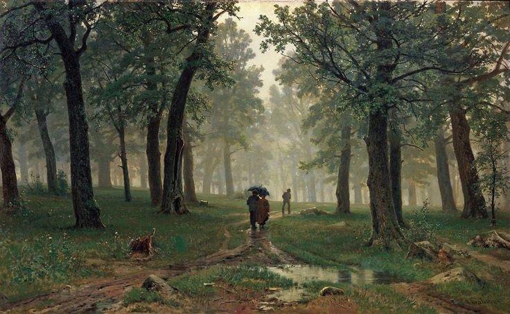 """""""Иван Шишкин """"Дождь в дубовом лесу"""" イヴァン・シーシキン『樫の森の雨』(1891)"""""""