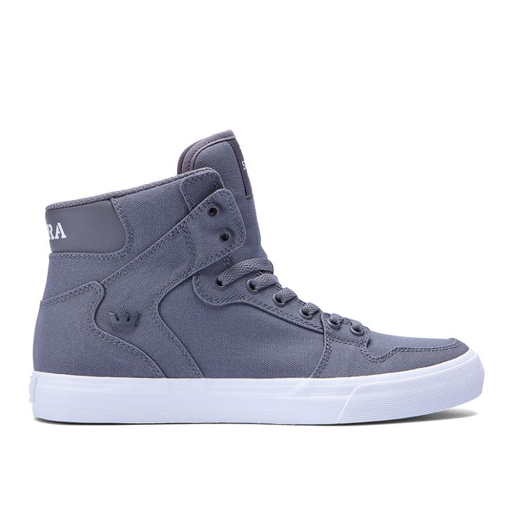 womens vaider d in charcoal white supra footwear