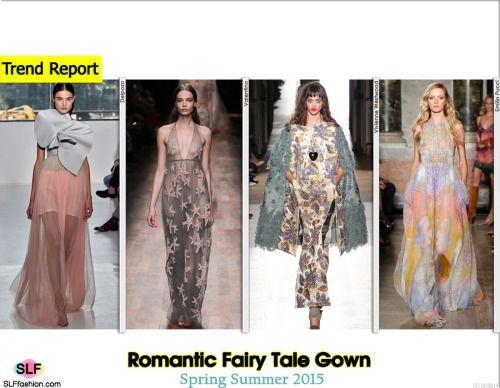 Romantic Fairy Tale Gown Trend for Spring Summer 2015. Delpozo, Valentino…