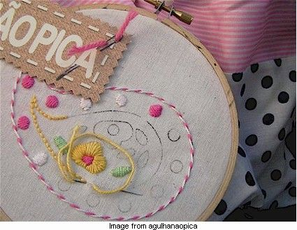 Paisley embroidery kit