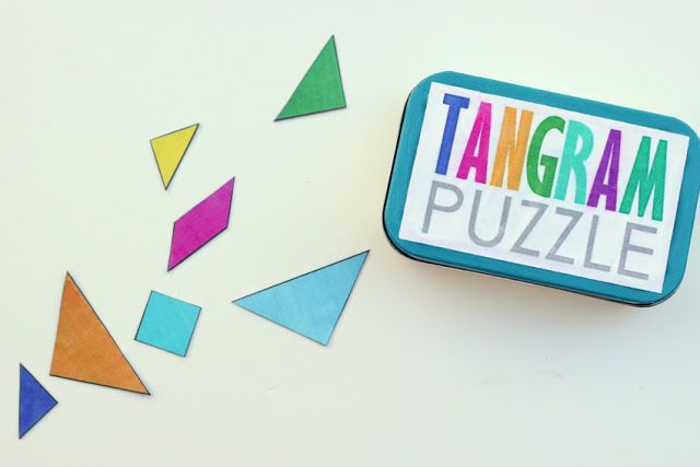 Arc en ciel: Voyage bricolage magnétique Tangram Puzzles - Delia crée
