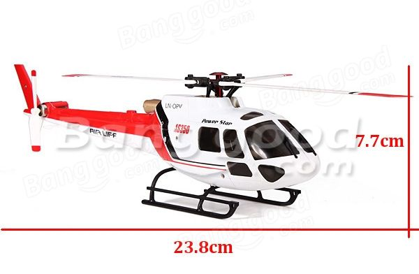 WLtoys V931 2.4G 6CH Brushless AS350 Scale Lama Flybarless RC Helicopter - US$109.99