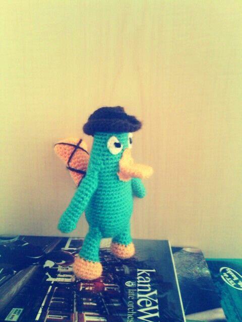 Crochet amigurumu. Ornitorenk perry