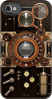 Steampunk Camera #2A iPhone case by Steve Crompton, for iPhone 5, 4, 3GS. See my RedBubble store for a reworked version for iPod 4G. #steampunk