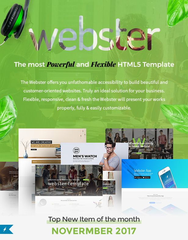 Webster - Responsive Multi-purpose HTML5 Template by Potenzaglobalsolutions