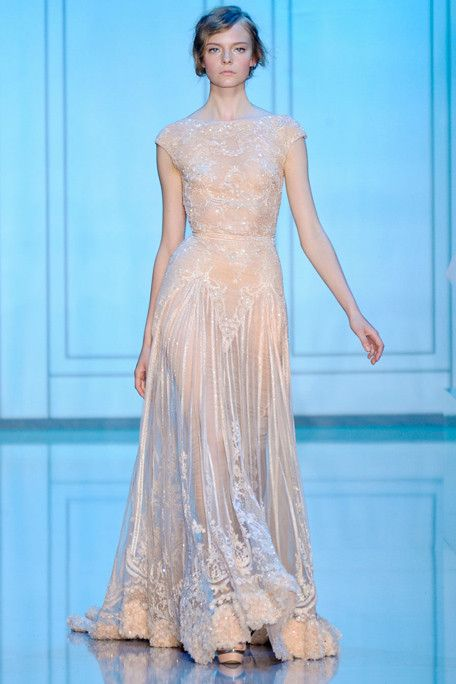 ELIE SAAB — Fall 2011 Haute Couture I would love to have this as a wedding dress too bad I don't have the budget for it.