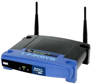 Access points are special devices used on wireless and cell networks: Linksys WAP54G Wireless Access Point