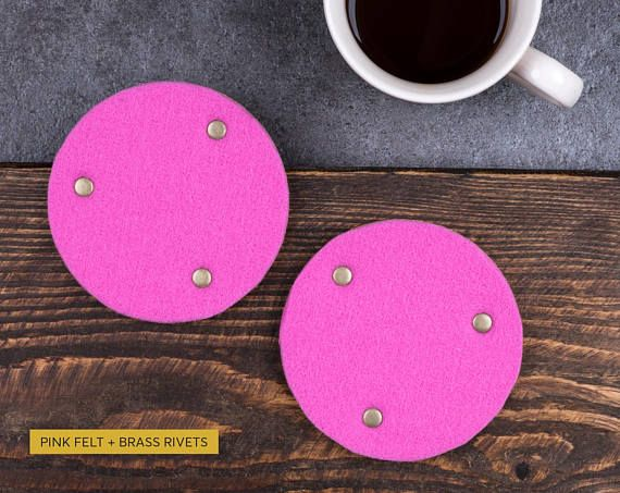 Personalized coaster table decoration cork felt coasters