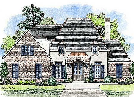 Plan 56401sm French Country With Outdoor Entertaining