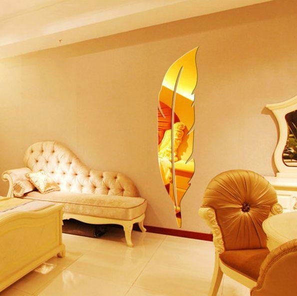 [Special] каждый день, трехмерные наклейки акриловое зеркало стены спальня прихожая вход фон ювелирные изделия творческая перо - Taobao