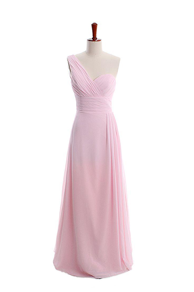 One shoulder modern with sild slit dress
