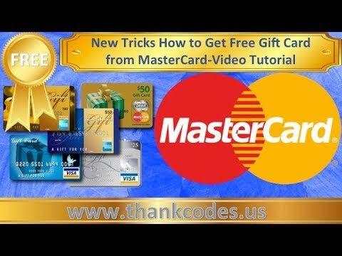 Free Mastercard Gift card give aways credit card- Free mastercard gift card -video tutorial - YouTube