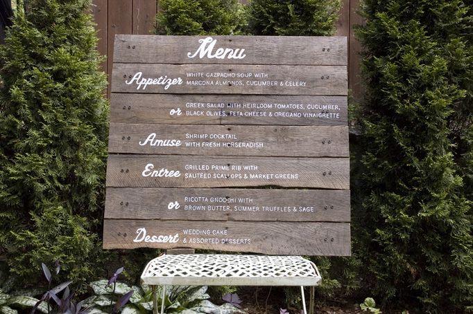 A Wedding Menu: Wood Fence, Wedding Food Menu, Salvaged Wood, Hands Letters, Wood Menu,  Plaques, Hands Drawn, Southern Wedding, Wedding Menu