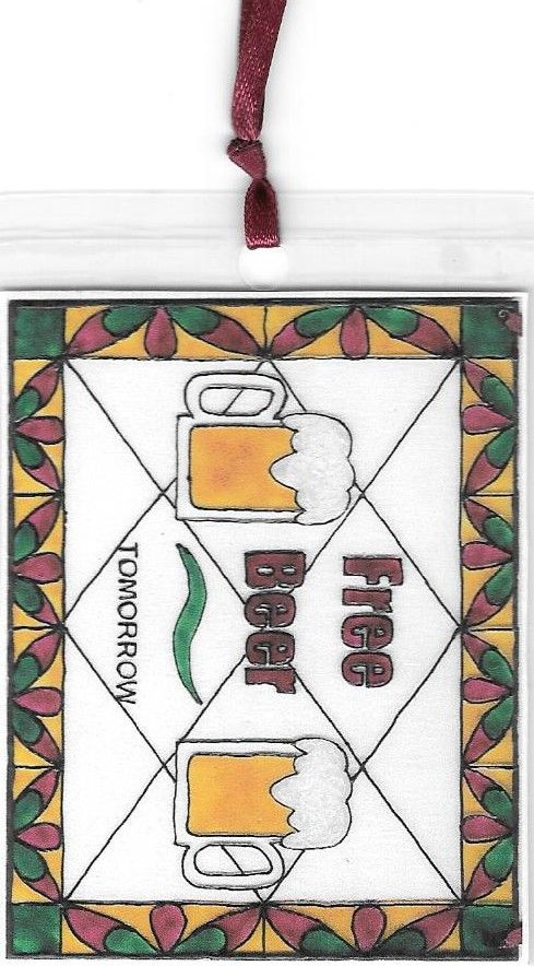 Free Beer tomorrow Bookmark