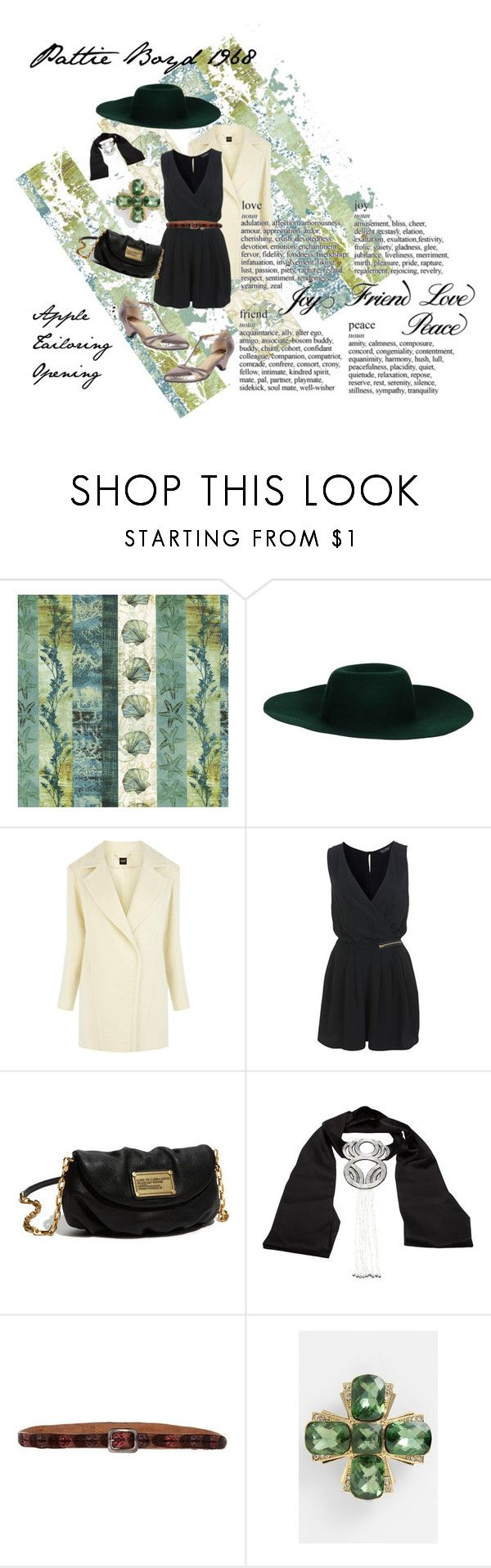 """""""Pattie Boyd at Apple Tailoring Opening"""" by astridma ❤ liked on Polyvore featuring Oasis, Miss Selfridge, Marc by Marc Jacobs, JULIA CLANCEY, D'Amico and Anne Klein"""