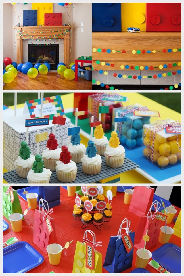 Ideas para una fiesta de lego #legoparty #party #kids