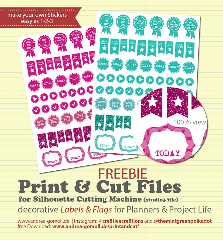 Free Download: DIY Planner Sticker Print