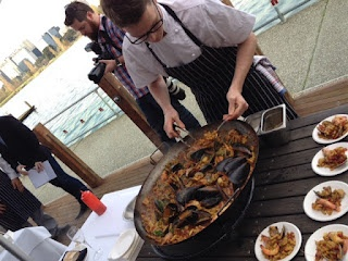 """Movida showcases a medley of seafood in their """"fidua pasta"""" at the #TasteofMelbourne launch!"""
