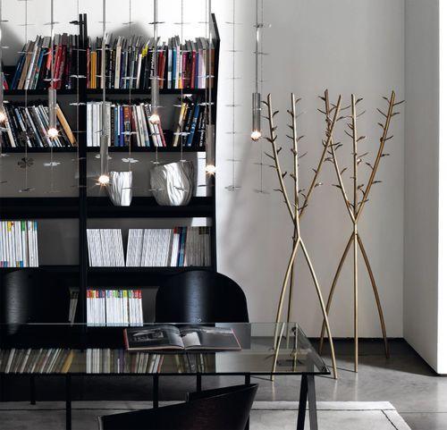 Floor coat rack / contemporary / brass / residential ACATE by Borek Sipek DRIADE