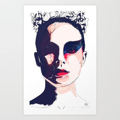 Black Swan Art Print by Brito78 - $20.80