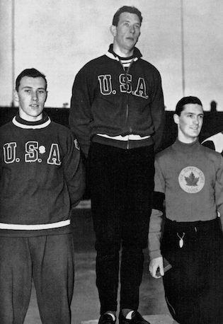 Gordon Audley, médaillé de bronze aux 500 mètres lors des Jeux d'hiver d'Oslo en 1952 - Exploraré - Tirée du livre officiel : VI Olympic Winter Games Oslo 1952.