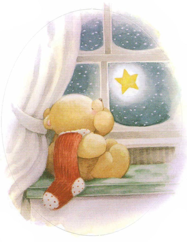 Day 1 . . . Little Bear wishes upon a magical star. Only 24 sleeps to go until Christmas day!