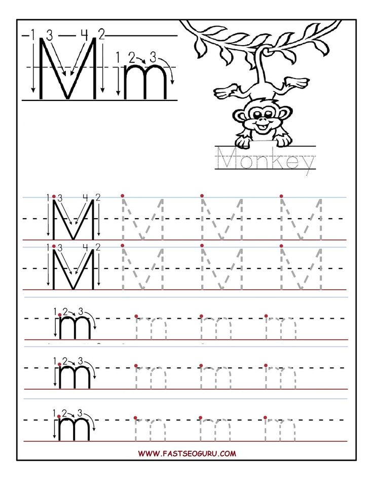Worksheets Free Printable Letter Tracing Worksheets 25 best ideas about letter tracing worksheets on pinterest printable m for preschool