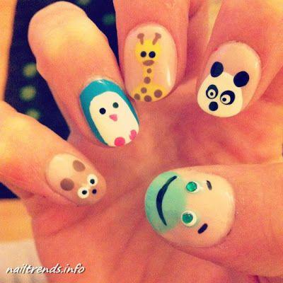 funny nails cartoon Cute nails