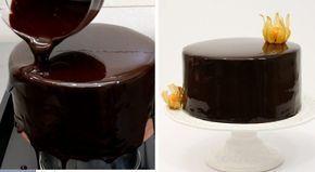Cum se face glazura oglindă de ciocolată (mirror glaze) - Delicioase.com