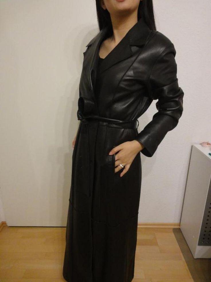 Vintage Ledermantel lang in Damenbekleidung aus M nchen Westpark