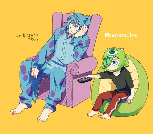 Anime version of monsters inc. (i ship it)