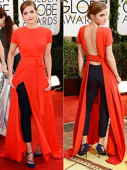 Emma Watson in Dior Couture. She took a chance in this number, but I love it!