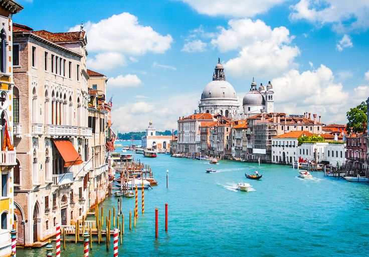 27 of the Best Cities to Visit in Italy  (Canal Grande with Basilica di Santa Maria della Salute in Venice)