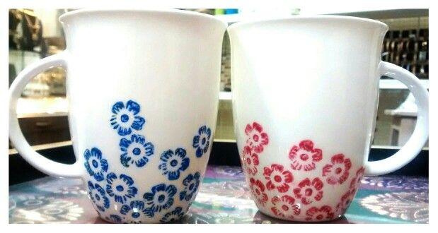 Hand printed mugs exclusively @ Studio Aadyaa