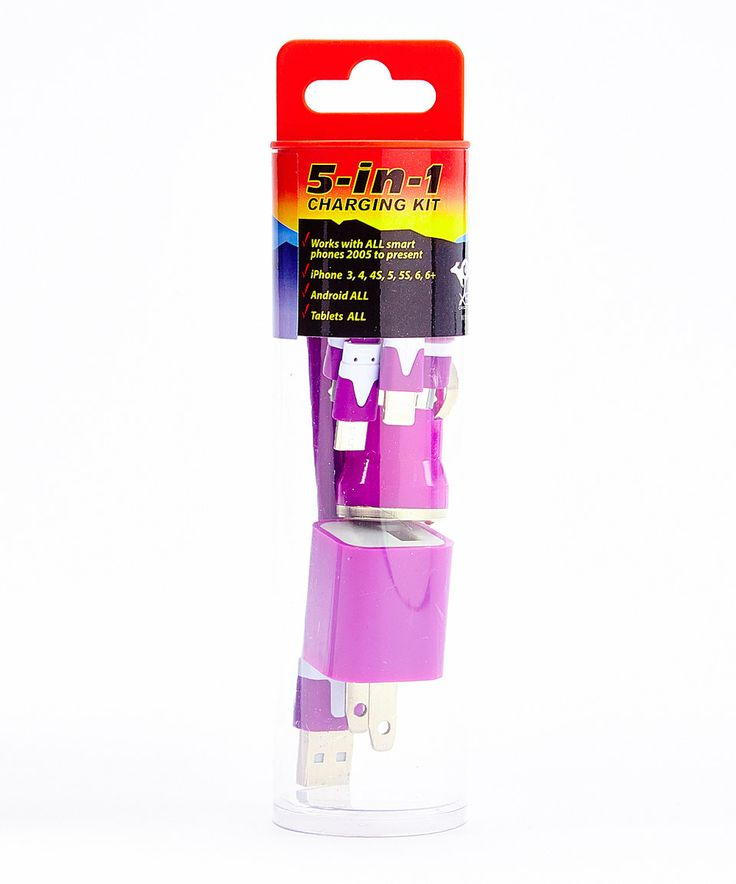 Love this Purple 5-in-1 Charging Kit by Battery On The Go on #zulily! #zulilyfinds