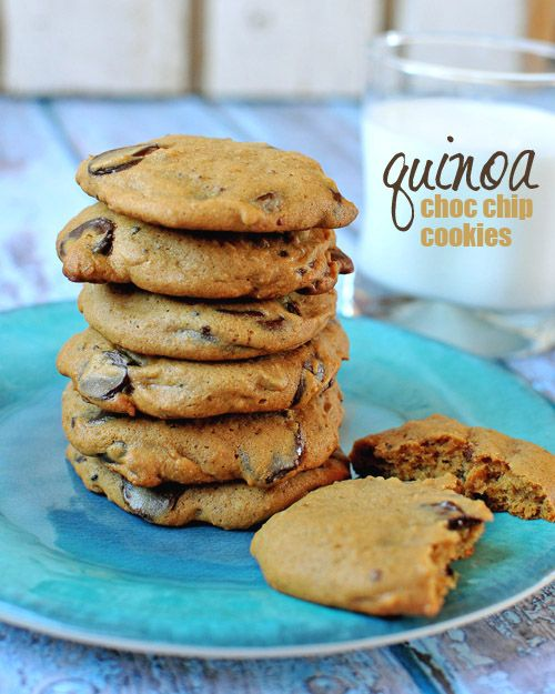 #GlutenFree Quinoa Chocolate Chip CookiesDesserts Recipe, Chocolate Chips, Chocolates Chips, Chips Cookies, Dessert Recipes, Quinoa Chocolates, Gluten Free, Chocolate Chip Cookies, Quinoa Desserts