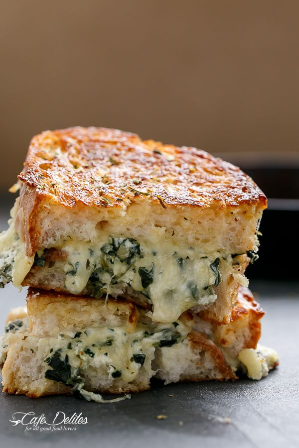 Spinach and Ricotta Grilled Cheese   http://cafedelites.com