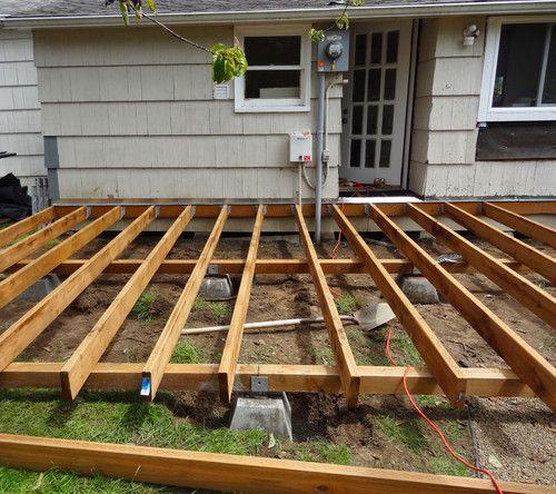 stap voor stap opbouw terras