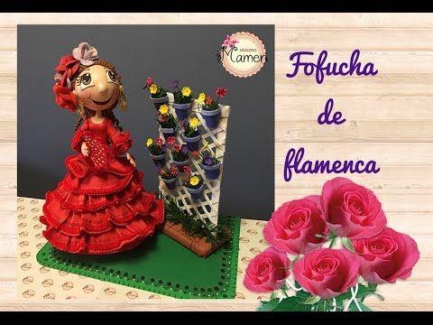1 Parte Fofucha de flamenca paso a paso hecha con gomaeva. Creaciones Mamen - YouTube