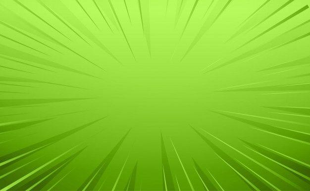 Baixe Fundo De Linhas De Zoom Vazio Estilo Cômico Verde