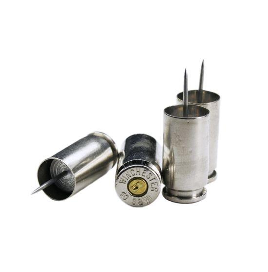 .40 Caliber Bullet Casing Push Pins - GunGoddess.com
